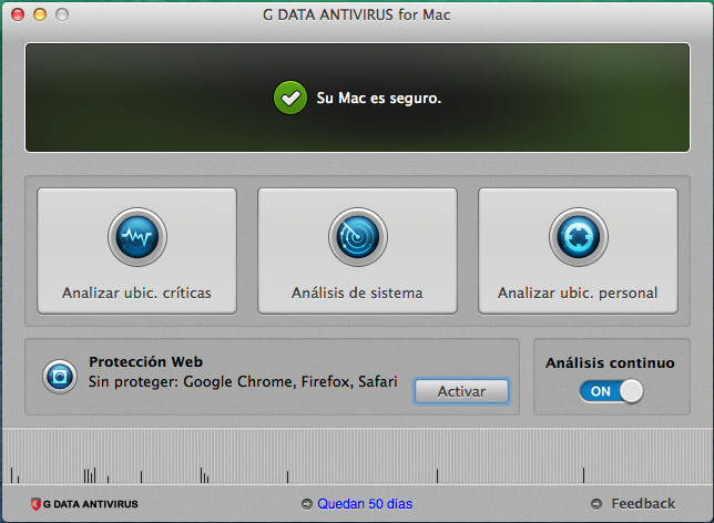 Screenshot G DATA Antivirus para Mac